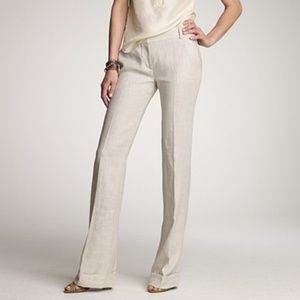 NWT J. Crew Ivory Linen Pants Size 12